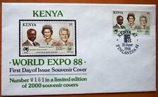 KENYA & AUSTRALIA BOB HAWKE LIMITED EDITION SOUVENIR NUMBERED STAMP COVERS FDC