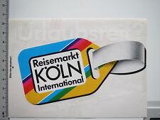 Aufkleber Sticker Reisemarkt Köln - Kofferanhänger (6502)