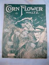 Corn Flower Waltzes Antique Sheet Music C Coote Jr Piano Solo Eclipse Pub Co (O)