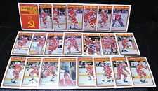 1990-91 CENTRAL RED ARMY SET OF 21 Hockey Cards PLUS Checklist 1R-22R-OPC Insert