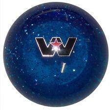 Blue Glitter Western Star Logo shift knob M12x1.25 Thread Size U.S MADE