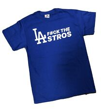 "LOS ANGELES DODGERS MAJESTIC ""ASTROS"" T-SHIRT SZ. XL"