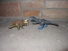 Jurassic Park Dinosaurs 2 2004 Mini Tyrannosaurus rex and Triceratops!
