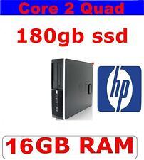 HP COMPUTER PC CORE 2 QUAD 16GB RAM ✔ 180GB SSD ✔ WIFI ✔VERY FAST & RELIABLE PC