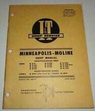 Minneapolis Moline G 706707708900950100010501350 Tractor Iampt Shop Manual