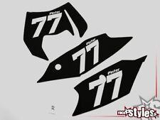 Startnummernfelder Dekor backgrounds f. KTM EXC 125 250 450 530 2012-2013 plates