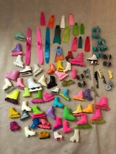 Lot Of 68 Doll Sporting Shoes No Pairs Plus 10 Pieces Barbie, Ken, & More