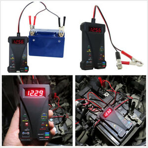 Car Truck 12V Smart LED Digital Battery Tester Voltmeter Alternator Analyzer Kit