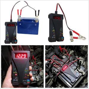 Car Truck 12V Smart LED Digital Battery Tester Voltmeter Alternator Analyzer Kit