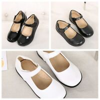 Girls Child Patent Leather Shoes Princess School Party Performance Dance Shoes