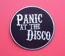 PUNK ROCK HEAVY METAL MUSIC SEW ON / IRON ON PATCH:- PANIC! AT THE DISCO (a)