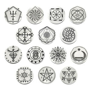 """NEW Christopher Penczak Spell Coin by Deva Designs Pewter Pocket Charm 1.25"""""""