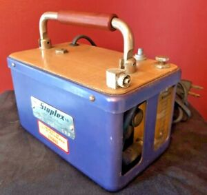 Staplex Model LV-1 Volumetric Air Sampler Pump Works Fine