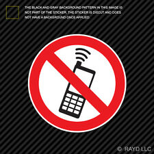 No Cell Phone Zone Sticker Decal Self Adhesive Vinyl mobile type b