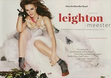 Leighton Meester 3pg + cover GLAMOUR magazine feature, clippings