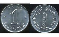 FRANCE FRANCIA  1 CENTIME INOX 1969  SPL