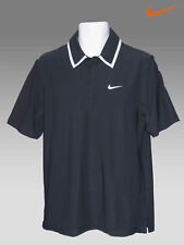 NIKE TENNIS DriFit Polo Shirt Blackish Blue / White M