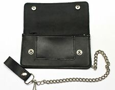 7 inch Oil Tanned Biker Wallet with Chain - Made in USA