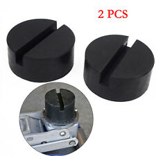 2X Slotted Rail Floor Jack Disk Rubber Pad Adapter for Pinch Weld Side Excellent