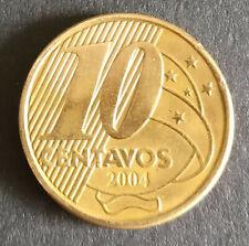 2004 Brasil 10 centavos, Brazil 10 cents. Very good cond.Free postage Australia.