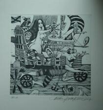 DUSAN POLAKOVIC *1950 SLOVAKIA-MARINE-STEERS (MAN ) WOMAN-EXLibris-EA.SIGNED2007