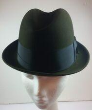 8f14830f08567 Vintage Stetson Men s Sovereign Fedora Hat Fur Felt Olive Green ...