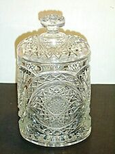 Imperial EAPG Clear Hobstar Pattern #282 Candy Cracker Cookie Biscuit Jar ***