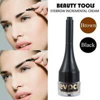 Waterproof  Eyebrow Hair Extension Fiber Building Brow Hair Gel Tint Cream Pen H