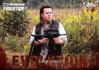 EUGENE PORTER Josh McDermitt Walking Dead Evolution BROWN PARALLEL Base Card #51