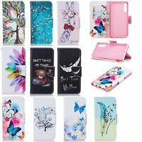 For Samsung Galaxy A7 A6 J4 J6 2018 Wallet Painted Leather Case Flip Stand Cover