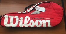 Wilson Tour Thermo Guard Double Racket Tennis Bag. Red See Description
