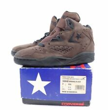 Vintage 90s New Converse Mens 7.5 Halftime Mid Leather Basketball Shoes Brown