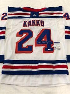 Kaapo Kakko Signed Autographed New York Rangers Rookie Of Year Jersey Psa/Dna