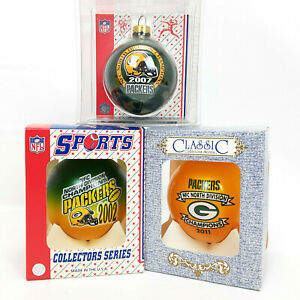 3X Green Bay Packers N DIVISION CHAMPIONS Christmas Ornaments - 2002, 2007, 2011