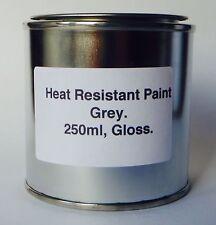 250ml GREY Gloss Heat Resistant Paint, Engine Caliper Brake Metal Steel Body