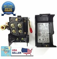 Air Compressor Pressure Switch 95-125 psi ONE PORT unloader+on/off lever LEFOO
