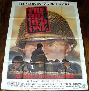 THE BiG RED ONE Lee Marvin Mark Hamill WW2 Robert Carradine LARGE french POSTER