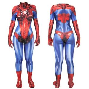 Spider Girl Spider-Man Mary Jane Spinneret Cosplay Costume Suit For Kids Adult