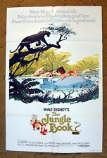 Meet the V.I.P.'s of the Jungle!  THE JUNGLE BOOK orig. movie poster 1978r