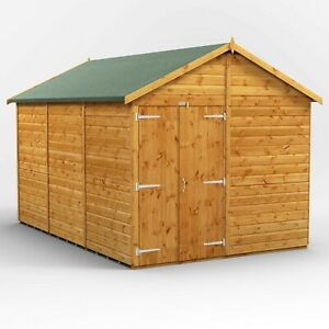 Power Apex Garden Shed | Windowless | Wooden Workshop | Sizes 12x8 up to 20x8