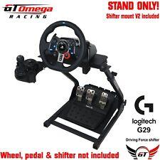GT Omega VOLANTE STAND PRO per Volante Logitech G29 & LEVA DEL CAMBIO V2