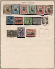TONGA/TRANSVAAL: 1870-1897 - Ex-Old Time Collection - 2 Sides Page (34976)
