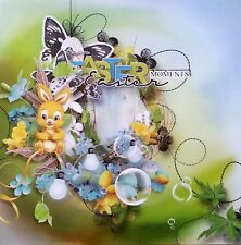 12 x 12 Printed Cardstock - Easter Moments