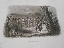 Gravure 19èm - Danse des Puris