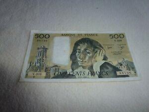 BILLET DE 500 FRANCS  PASCAL 1984