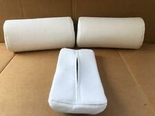 Bellezza # W9952 Neck Pad Perforated Leather & Belleza Tissue Cover , White