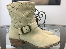 Sole Society Womens Sola Beige  Ankle Boots Size 9 M  #12