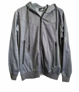 Motorfist Off Road Mob Zip Up Sweatshirt Hoodie Jacket Gray Men M