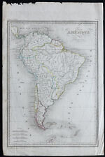 1840ca - Carte ancienne Amérique du Sud - Malte-Brun / Thierry - Antique Map