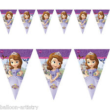 2.3 m DISNEY' Sofia The First Princess Party pennant Banner Bunting Decorazione